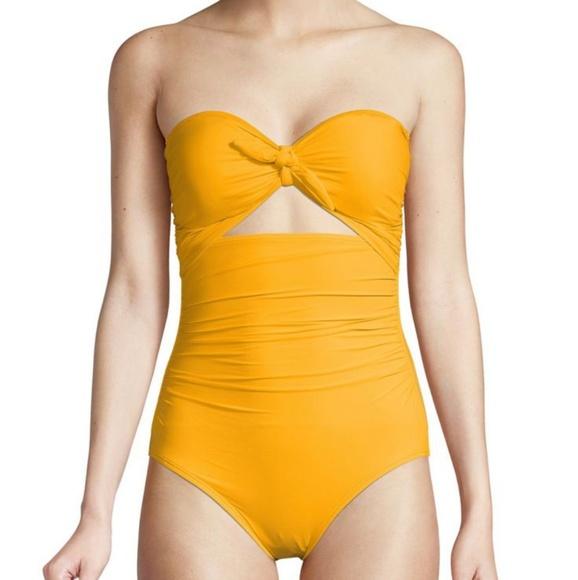 f772532cf056 kate spade Swim | Yellow Onepiece Suit | Poshmark